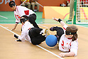 (L-R)<br /> Akiko Adachi,<br /> Rie Urata,<br /> Eiko Kakehata (JPN),<br /> SEPTEMBER 12, 2016 - Goalball : <br /> Preliminary Round<br /> match between Japan - Algeria<br /> at Future Arena<br /> during the Rio 2016 Paralympic Games in Rio de Janeiro, Brazil.<br /> (Photo by Shingo Ito/AFLO)