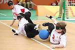 (L-R)<br /> Akiko Adachi,<br /> Rie Urata,<br /> Eiko Kakehata (JPN),<br /> SEPTEMBER 12, 2016 - Goalball : <br /> Preliminary Round<br /> match between Japan - Algeria<br /> at Future Arena<br /> during the Rio 2016 Paralympic Games in Rio de Janeiro, Brazil.<br /> (Photo by Shingo Ito/AFLO)