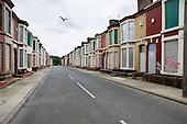 Houses in Edge Hill, Liverpool 7, scheduled for demolition by the Merseyside NewHeartlands partnership, financed by the Housing Market Renewal Fund, part of a government strategy aimed at tackling 'low demand'.  Some long-standing residents oppose the demolition of their homes.