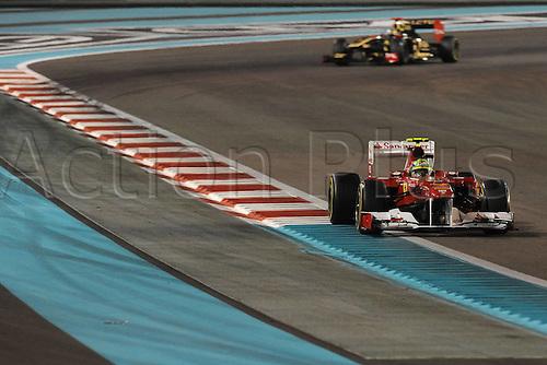 12.11.2011  Abu Dhabi, United Arab Emirates.  Yas Marina Circuit Brazilian Felipe Massa ON Ferrari F150 Formula 1 Grand Prix of Abu Dhabi, UAE.