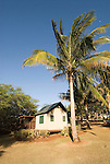 Hawaii: Molokai, eco-lodging at The Lodge at Moloki Ranch, at Kaupoa Beach, self-sufficient lodgings with own solar electricity, solar hot water, and composting toilet..Photo himolo195-72343..Photo copyright Lee Foster, www.fostertravel.com, lee@fostertravel.com, 510-549-2202