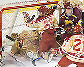 Peter Mannino, Patrick Mullen, Greg Rallo - The Ferris State Bulldogs defeated the University of Denver Pioneers 3-2 in the Denver Cup consolation game on Saturday, December 31, 2005, at Magness Arena in Denver, Colorado.