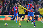 Crystal Palace's Cheikhou Kouyate and Arsenal's Matteo Guendouzi challenge for the ball during the Premier League match at Selhurst Park, London. Picture date: 11th January 2020. Picture credit should read: Paul Terry/Sportimage