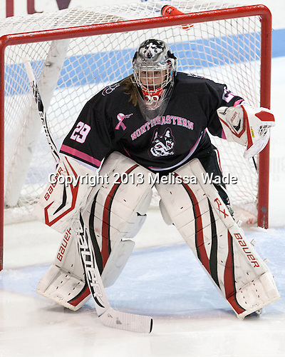 Chloe Desjardins (NU - 29) - The Northeastern University Huskies defeated the visiting Providence College Friars 8-7 on Sunday, January 20, 2013, at Matthews Arena in Boston, Massachusetts.