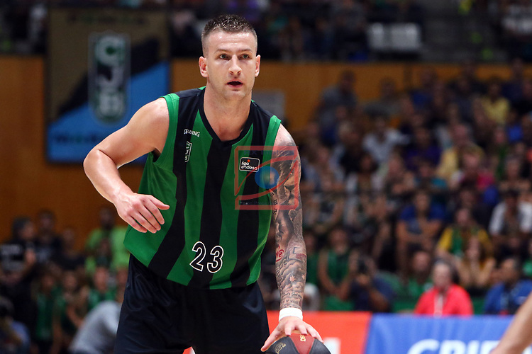Liga ENDESA 2019/2020. Game: 01.<br /> Club Joventut Badalona vs Real Madrid: 69-88.<br /> Alen Omic.