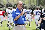 19 April 2008: Duke University football head coach Dave Cutcliffe. The Duke University Blue Devils played their annual Blue White Spring Football Game at Wallace Wade Stadium in Durham, NC.
