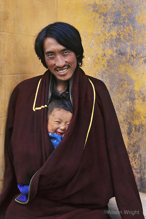 Man and child in Tongen, Amdo, Eastern Tibet, 2005