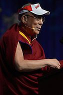 May 7, 2013  (College Park, Maryland)  His Holiness the 14th Dalai Lama, Tenzin Gyatso, is the guest speaker at the Anwar Sadat Lecture for Peace at the University of Maryland Comcast Center, May 7, 2013.  (Photo by Don Baxter/Media Images International)