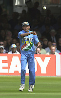 .29/06/2002.Sport - Cricket - .NatWest triangler Series England - Sri Lanka - India.England vs india 50 overs.  Lord's ground.England batting - Agit Agarkar...