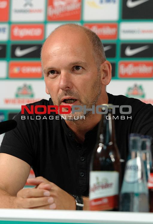 08.08.2013, Weserstadion, Bremen, GER, RLN, Pressekonferenz Werder Bremen II, im Bild Frank Bender (Co-Trainer Werder Bremen II)<br /> <br /> Foto &not;&copy; nph / Frisch *** Local Caption ***