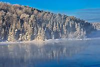 Fog on Lac Seul in winter<br />Ear Falls<br />Ontario<br />Canada