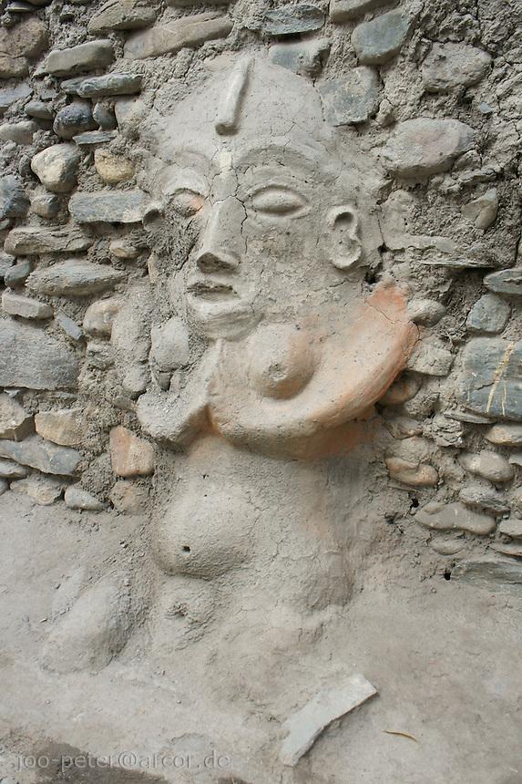 clay sculpture of female fertility spirit in Kagbeni village, Upper Mustang area, Himalaya, Nepal, October 2011