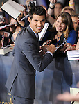 Taylor Lautner attends The world premiere of Summit Entertainment's THE TWILIGHT SAGA: BREAKING DAWN -PART 2 held at  Nokia Theater at L.A. Live in Los Angeles, California on November 12,2012                                                                               © 2012 DVS / Hollywood Press Agency