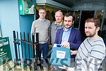 Castleisland Local group are organising training to teach locals how to use the town's defibrillators Pictured  Jeremy Burke, Eamonn O'Connor, Trainer, Neil Browne and Denis Kerin, Trainer,
