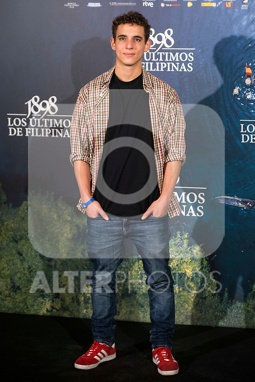 "Miguel Herran attends to the presentation of the spanish film "" 1898. Los ultimos de Filipinas"" at Naval Museum in Madrid, Spain. November 28, 2016. (ALTERPHOTOS/BorjaB.Hojas)"