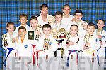 The Killarney Twai-kwon-do team that were successful in the Munster finals held in Tralee last weekend front row l-r: Nameis Balodis, Fergal Murphy, Shania Costello, Daniil Aleksejenko. Middle row: Grace O'Sullivan, Eoin Fitzgerald, Daniel O'Sullivan, Tara Fitzgerald, Adam O'Brien. Back row: Glen McSweeney, Jason Moriarty and Matthew Real