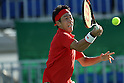 Kei Nishikori (JPN), <br /> AUGUST 11, 2016 - Tennis : <br /> Men's Singles Third Round at Olympic Tennis Centre during the Rio 2016 Olympic Games in Rio de Janeiro, Brazil. <br /> (Photo by Koji Aoki/AFLO SPORT)