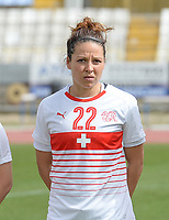 20180305 - LARNACA , CYPRUS : Swiss Vanessa Bernauer pictured during a women's soccer game between Switzerland and Wales , on monday 5 March 2018 at GSZ Stadium in Larnaca , Cyprus . This is the third game in group A for Switzerland and Wales during the Cyprus Womens Cup , a prestigious women soccer tournament as a preparation on the World Cup 2019 qualification duels. PHOTO SPORTPIX.BE | DAVID CATRY