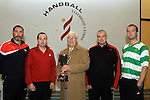 Alan Smith, Chairman of O'Raghallaighs Club, Tom Sheridan, Joey Maher, Dessie Keegan and Stuart Heslin at the Handball Development Day at the O'Raghallaighs...(Photo credit should read Jenny Matthews www.newsfile.ie)....This Picture has been sent you under the conditions enclosed by:.Newsfile Ltd..The Studio,.Millmount Abbey,.Drogheda,.Co Meath..Ireland..Tel: +353(0)41-9871240.Fax: +353(0)41-9871260.GSM: +353(0)86-2500958.email: pictures@newsfile.ie.www.newsfile.ie.