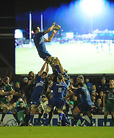 4th January 2014; Devin Toner, Leinster, wins a lineout. Rabodirect Pro12, Connacht v Leinster, Sportsground, Galway. Picture credit: Tommy Grealy/actionshots.ie.