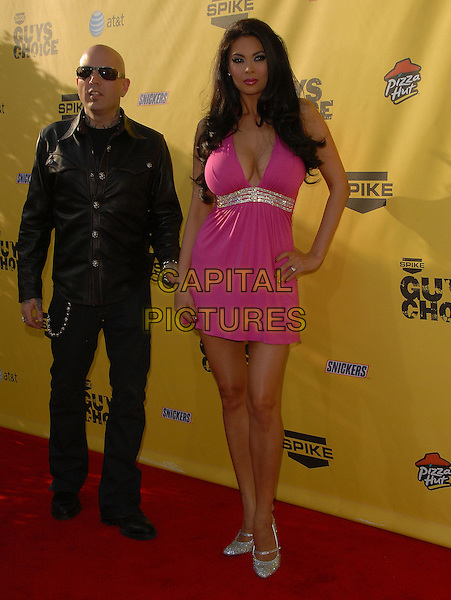 EVAN SEINFELD & TERA PATRICK.Attends The 1st Spike TV Guy's Choice held at Radford Studios in Studio City, California, USA, June 09 2007..full length black leather shirt pink dress .CAP/DVS.©Debbie VanStory/Capital Pictures