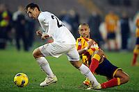 """Miroslav Klose Lazio, Guillermo Giacomazzi Lecce.Lecce 10/12/2011 Stadio """"Via del MAre"""".Football Calcio Serie A 2011/2012.Lecce Vs Lazio.Foto Insidefoto ."""