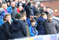 Blackburn Rovers fans react during the first half <br /> <br /> Photographer Rich Linley/CameraSport<br /> <br /> The EFL Sky Bet Championship - Blackburn Rovers v Preston North End - Saturday 9th March 2019 - Ewood Park - Blackburn<br /> <br /> World Copyright © 2019 CameraSport. All rights reserved. 43 Linden Ave. Countesthorpe. Leicester. England. LE8 5PG - Tel: +44 (0) 116 277 4147 - admin@camerasport.com - www.camerasport.com