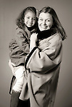 Portrait. Jennifer Wilson- mother and daughter Ella. CEO First Community Foundation.