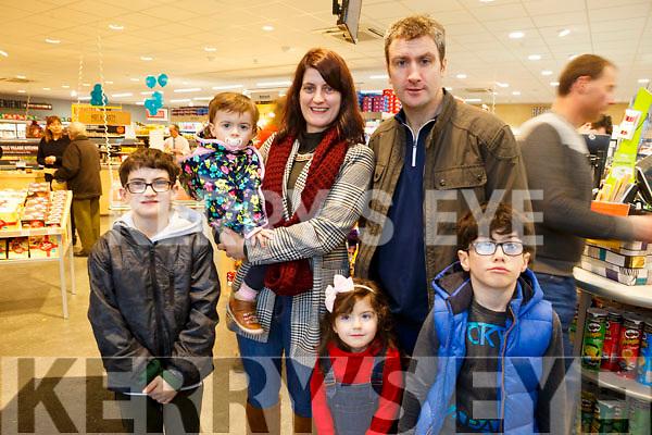 Enjoying Horgans Centra Ardfert Family Fun day on Sunday were Noel Helena, Jack, Rory, Amy Jane and Aoife Clifford