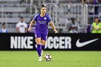 Orlando, FL - Saturday July 07, 2018: Ali Krieger during the first half of a regular season National Women's Soccer League (NWSL) match between the Orlando Pride and the Washington Spirit at Orlando City Stadium.