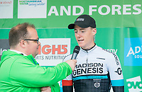 Picture by Allan McKenzie/SWpix.com - 04/09/2017 - Cycling - OVO Energy Tour of Britain - Stage 2 Kielder Water to Blyth - Connor Swift interviewed.