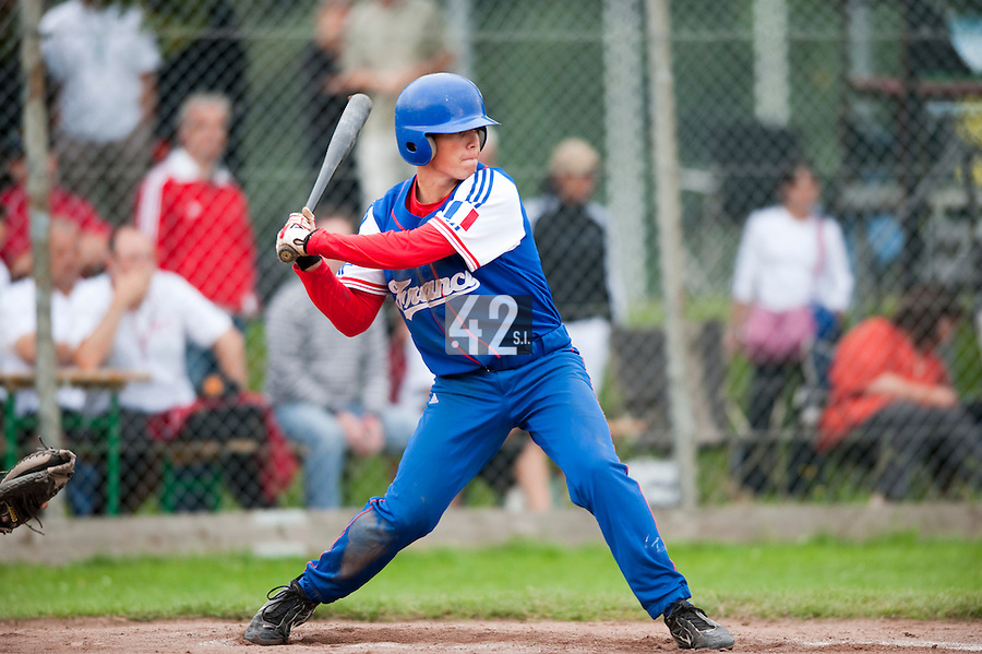 Baseball - 2009 European Championship Juniors (under 18 years old) - Bonn (Germany) - 03/08/2009 - Day 1 - Warren Coopman (France)