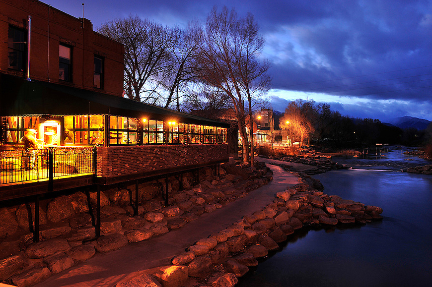 The Boathouse Cantina overlooks the Arkansas River. Michael Brands for The New York Times.