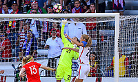 Houston, TX - April 9, 2017: The U.S. Women's national team go up versus Russia in an international friendly match at BBVA Compass Stadium.