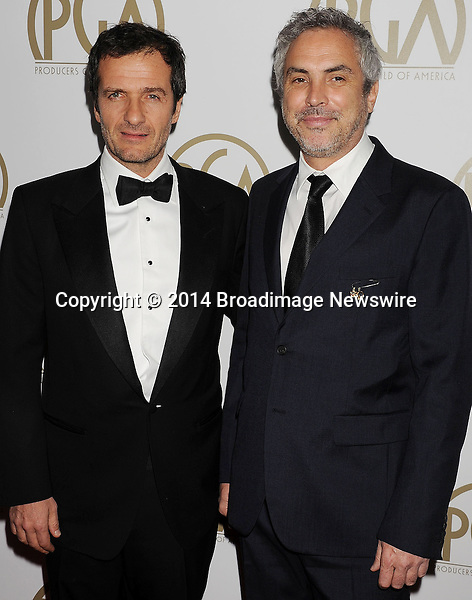 Pictured: David Heyman; Alfonso Cuaron<br /> Mandatory Credit &copy; Joseph Gotfriedy/Broadimage<br /> 25th Annual Producers Guild Awards<br /> <br /> 1/19/14, Beverly Hills, California, United States of America<br /> <br /> Broadimage Newswire<br /> Los Angeles 1+  (310) 301-1027<br /> New York      1+  (646) 827-9134<br /> sales@broadimage.com<br /> http://www.broadimage.com