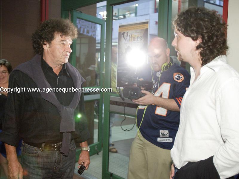 Montreal QC CANADA - July 27 2011 - Fantasia Film Festival -  Robert Charlebois, Quebec singer attend a screeing of spaghetti western classic : Un génie, deux associés, une cloche