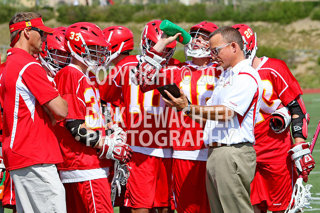San Diego, CA 05/21/11 - Cathedral Catholic coach Michael Watson and offense  in action during the 2011 CIF San Diego Section Division 2 Varsity Lacrosse Championship between Cathedral Catholic and Coronado.