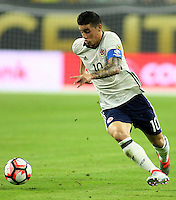 HOUSTON - UNITED STATES, 11-06-2016: James Rodriguez jugador de Colombia en acción durante partido del grupo A, fecha 3, entre Colombia (COL) y Costa Rica (CRC)  por la Copa América Centenario USA 2016 jugado en el estadio NRG en Houston, Texas, USA. /  James Rodriguez player of Colombia in action during match of the group A  between Colombia (COL) and Costa Rica (CRC) for the date 3 of the Copa América Centenario USA 2016 played at NRG stadium in Houston, Texas ,USA. Photo: VizzorImage/ Luis Alvarez /Str