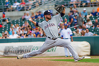 Colorado Springs Sky Sox pitcher Damien Magnifico (33) delivers a pitch during a game against the Iowa Cubs on September 4, 2016 at Principal Park in Des Moines, Iowa. Iowa defeated Colorado Springs 5-1. (Brad Krause/Four Seam Images)