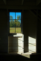 Barn Window Interior Red Barn Annand/Rowlatt Farmstead Campbell Valley Park Langley B.C.