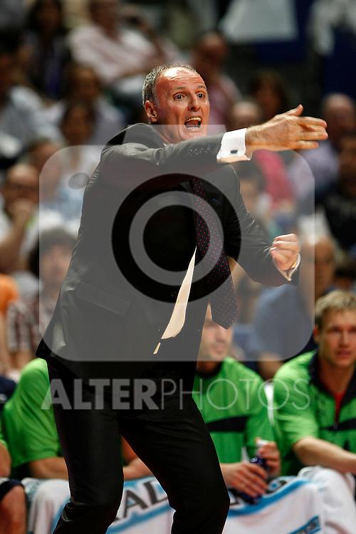 Caja Laboral´s coach Dusko Ivanovic during La Liga ACB Playoffs semifinal last match, Madrid 2012/June/02..(ALTERPHOTOS/ARNEDO)
