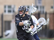 Washington, DC - April 7, 2018: Providence Friars Nick Crews (35) in action during game between Providence and Georgetown at  Cooper Field in Washington, DC.   (Photo by Elliott Brown/Media Images International)