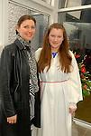 KristinaSapordaite and her Mum Jurgita  at the Confirmation in Laytown. Photo:www.newsfile.ie