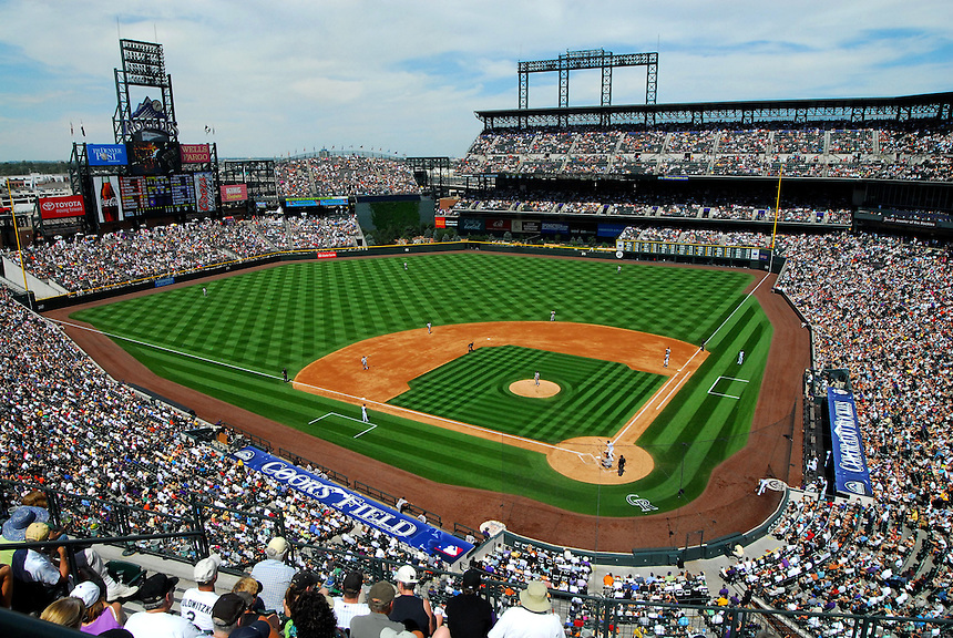 August 23, 2009: Announced attendance of 48,704 fill the stands on a Sunday afternoon on Coors Field Faith Day 2009 during a regular season game between the San Francisco Giants and the Colorado Rockies at Coors Field in Denver, Colorado. The Rockies beat the Giants 4-2. *****For editorial use only*****