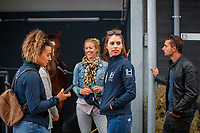 Ulrika Goodin; Mark Weedon and Rebekah Van Tiel. 2019 NED-FEI Olympic Qualifier for Team Jumping - Group G. Topps International Arena. Valkenswaard. Netherlands. Monday 12 August. Copyright Photo: Libby Law Photography
