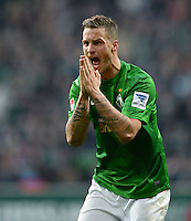 FUSSBALL   1. BUNDESLIGA   SAISON 2012/2013    30. SPIELTAG SV Werder Bremen - VfL Wolfsburg                          20.04.2013 Marko Arnautovic (SV Werder Bremen) aergert sich ueber eine Schiedsrichterentscheidung