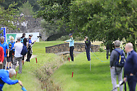 Victor Perez (FRA) in trouble with his drive on the 2nd hole during Sunday's Final Round of the Northern Ireland Open 2018 presented by Modest Golf held at Galgorm Castle Golf Club, Ballymena, Northern Ireland. 19th August 2018.<br /> Picture: Eoin Clarke | Golffile<br /> <br /> <br /> All photos usage must carry mandatory copyright credit (&copy; Golffile | Eoin Clarke)
