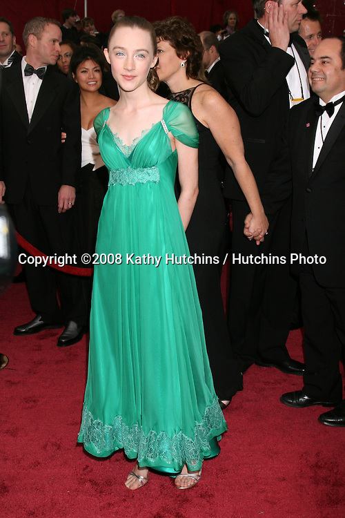 Saoirse Ronan.80th Academy Awards ( Oscars).Kodak Theater.Los Angeles, CA.February 24, 2008.©2008 Kathy Hutchins / Hutchins Photo.