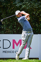Matt Fitzpatrick (ENG) watches his tee shot on 4 during round 3 of the World Golf Championships, Mexico, Club De Golf Chapultepec, Mexico City, Mexico. 3/4/2017.<br /> Picture: Golffile | Ken Murray<br /> <br /> <br /> All photo usage must carry mandatory copyright credit (&copy; Golffile | Ken Murray)