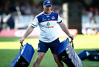 Brad Thorn (Head Coach) of The St.George Queensland Reds during the super rugby match between the Cell C Sharks and the Queensland Reds at Jonsson Kings Park Stadium in Durban, South Africa 19th April 2019. Photo: Steve Haag / stevehaagsports.com